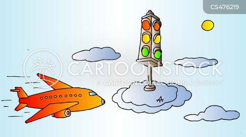 green lights cartoon