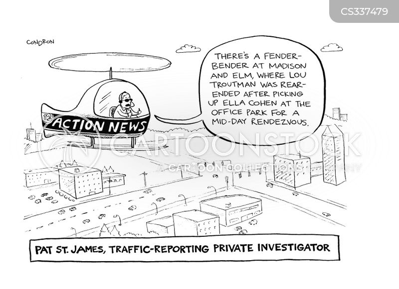 traffic report cartoon