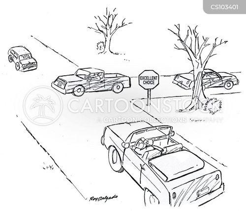 giving way cartoon
