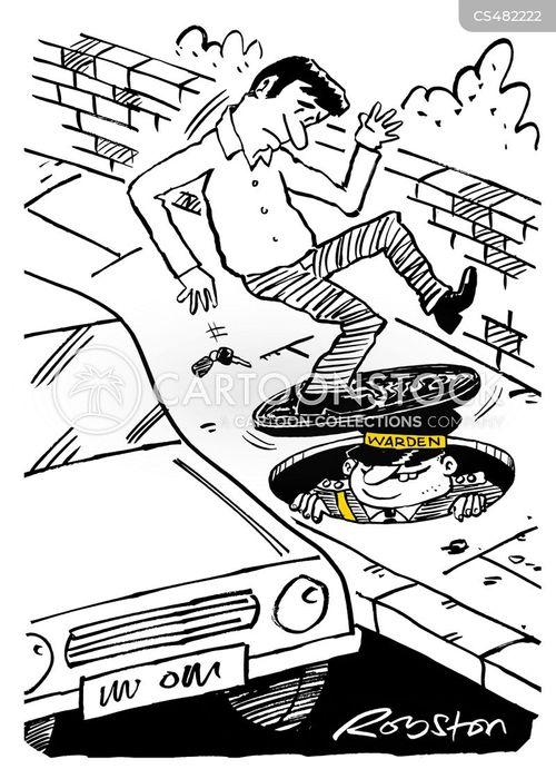 transport warden cartoon
