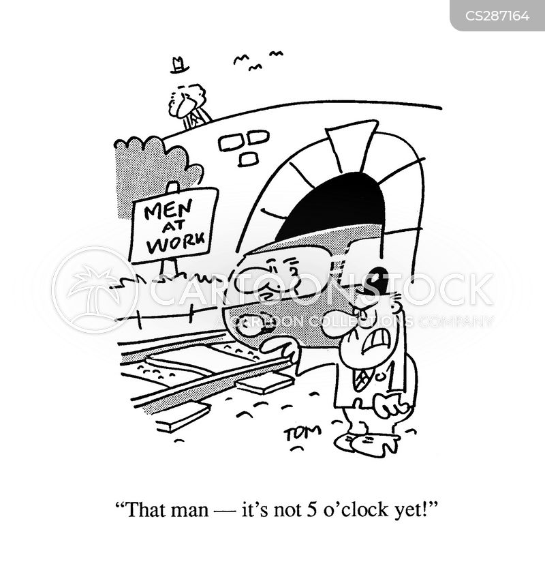 railway line cartoon