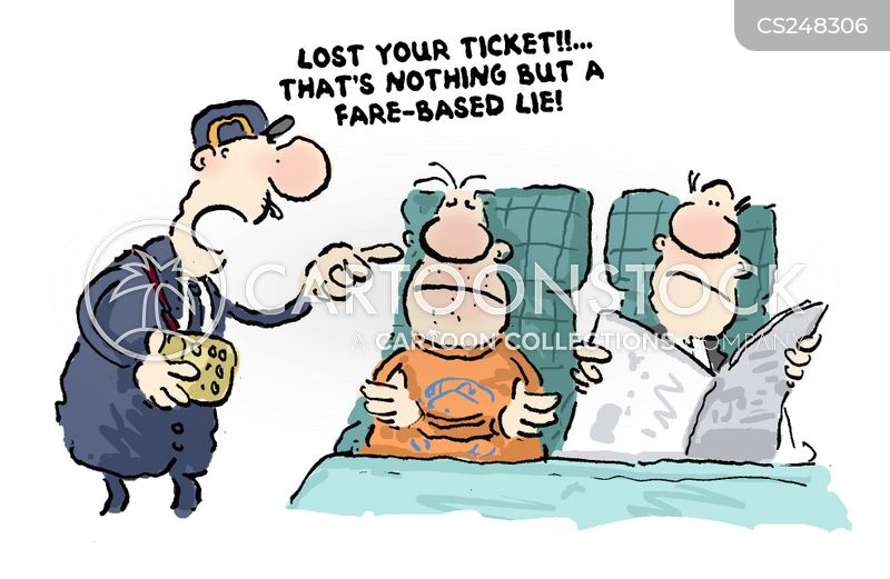 ticket collector cartoon