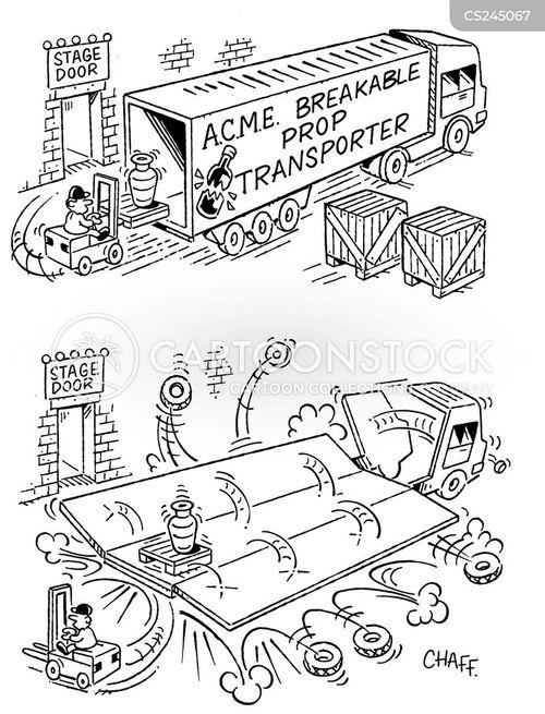 removal truck cartoon