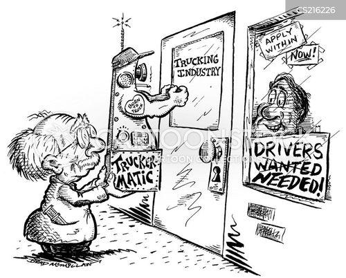 transport industry cartoon