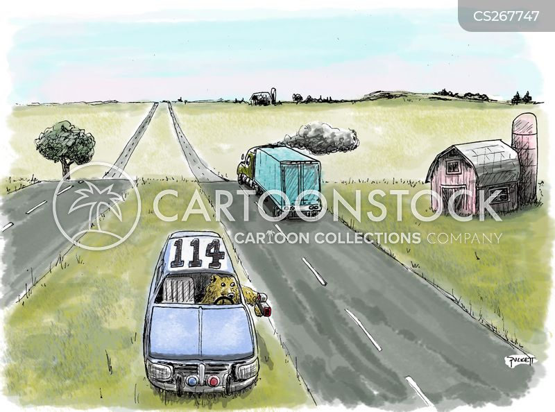 speed trap cartoon