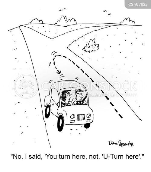 u turns cartoon