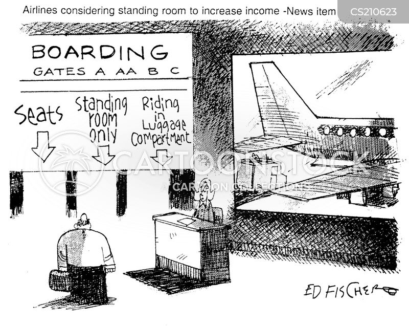 departure lounges cartoon