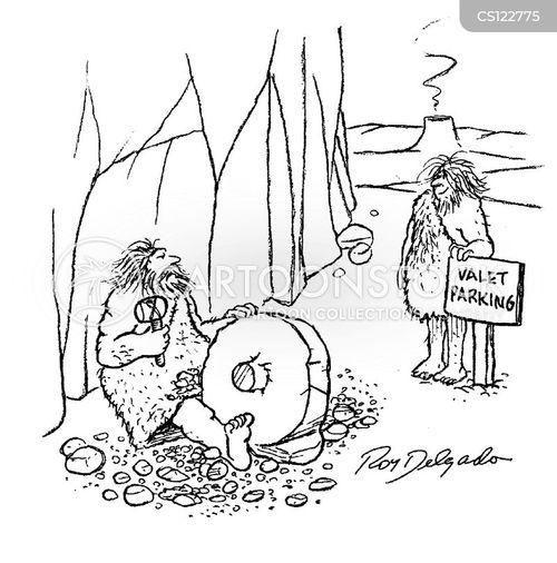 stone wheel cartoon
