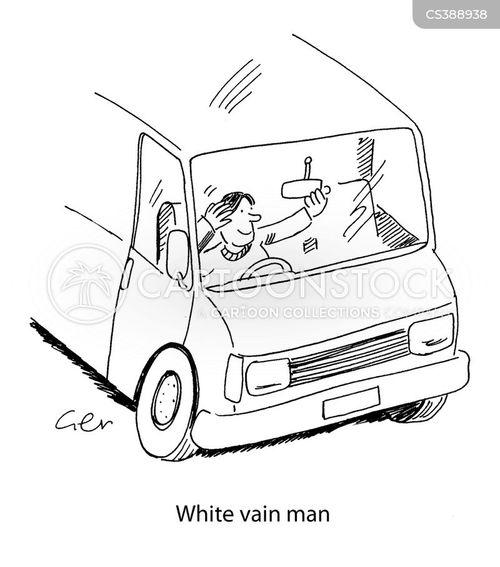 white vans cartoon