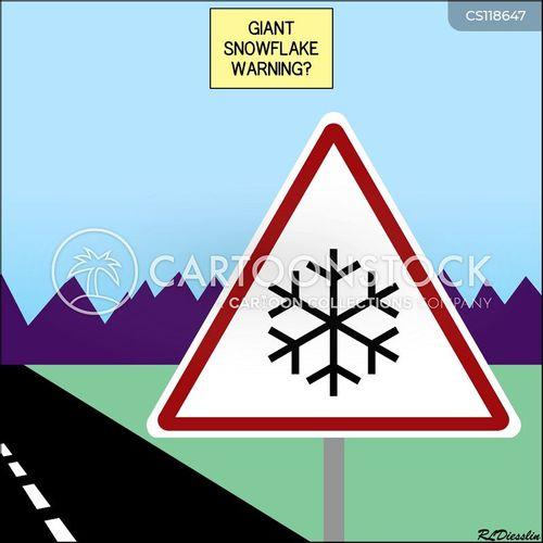 snowflakes cartoon