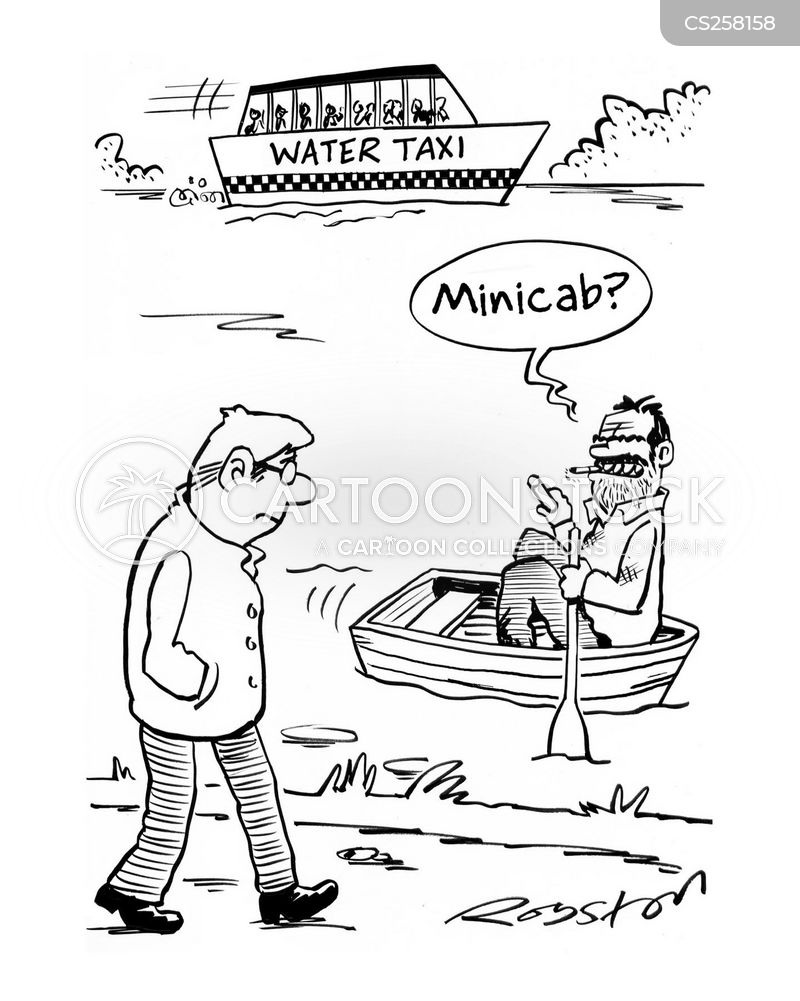 water taxi cartoon
