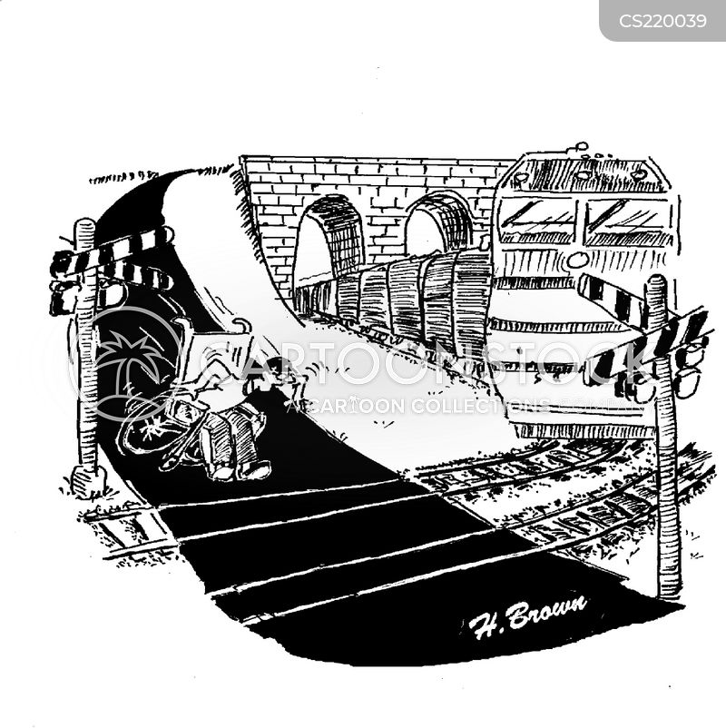 railway tracks cartoon
