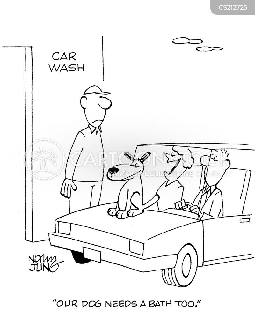 mechanical car wash cartoon