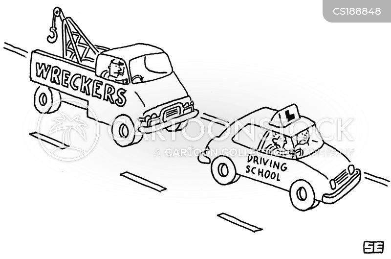 driving lessons cartoon