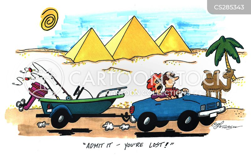 boating holidays cartoon