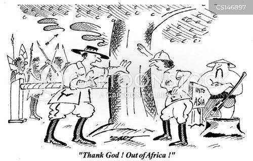continents cartoon
