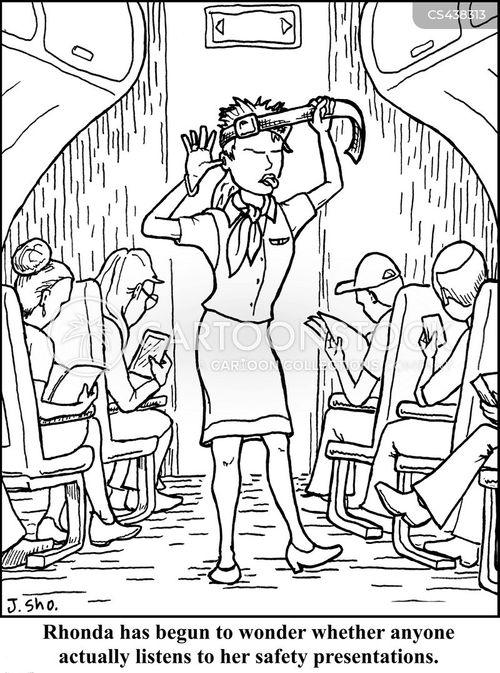 safety instructions cartoon