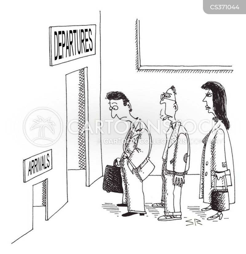 departure lounge cartoon