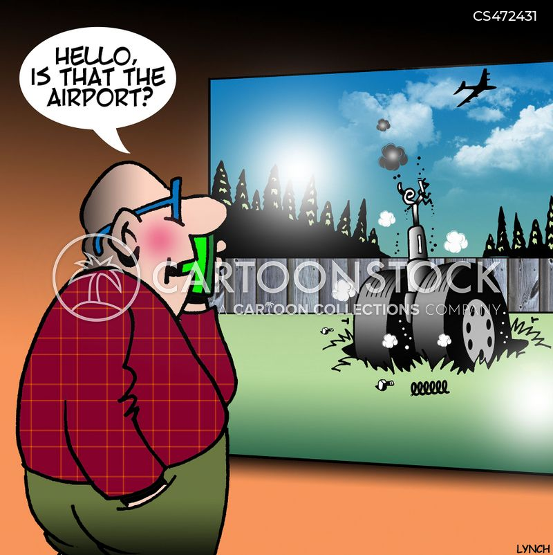 air disaster cartoon