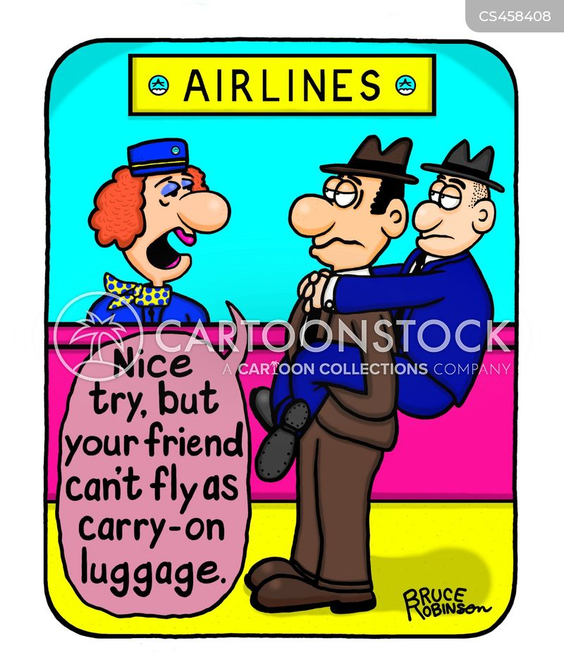 carry-on baggage cartoon