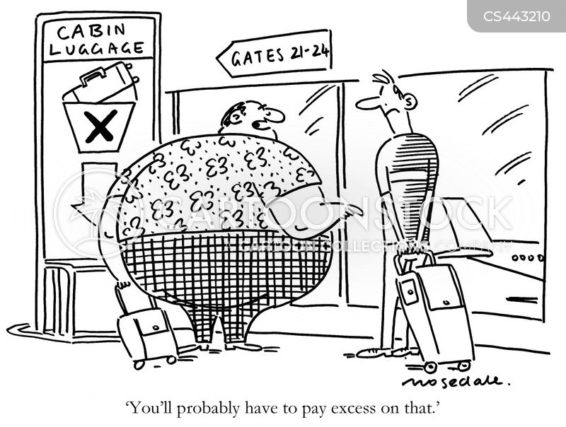 extra baggage cartoon