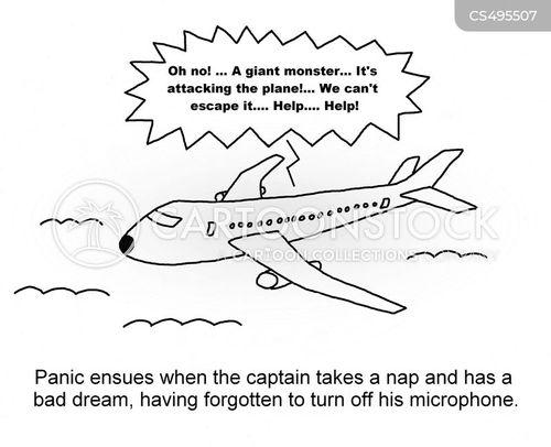 scary dreams cartoon