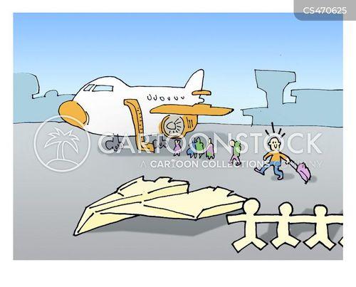 cheap airlines cartoon