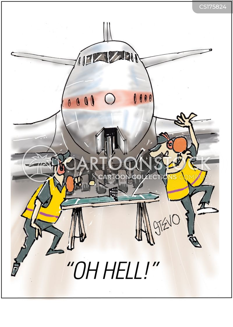 jet airliner cartoon