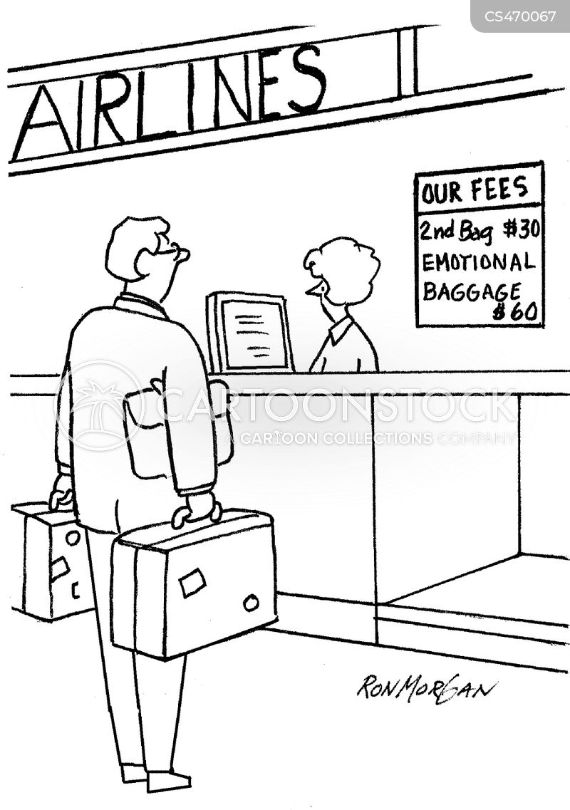 airline fees cartoon