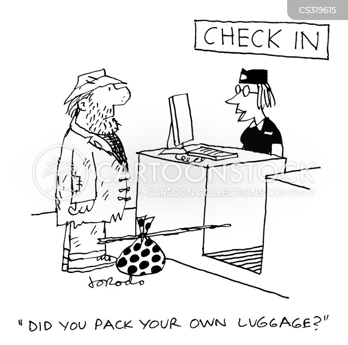 check-ins cartoon