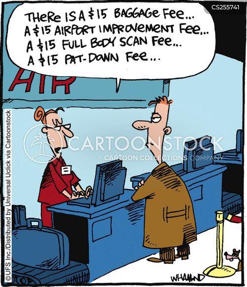 airport customs cartoon