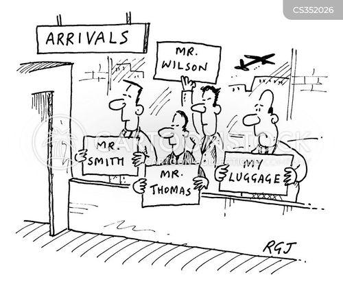 arrivals lounge cartoon