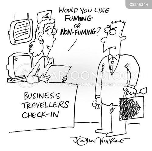 fuming cartoon