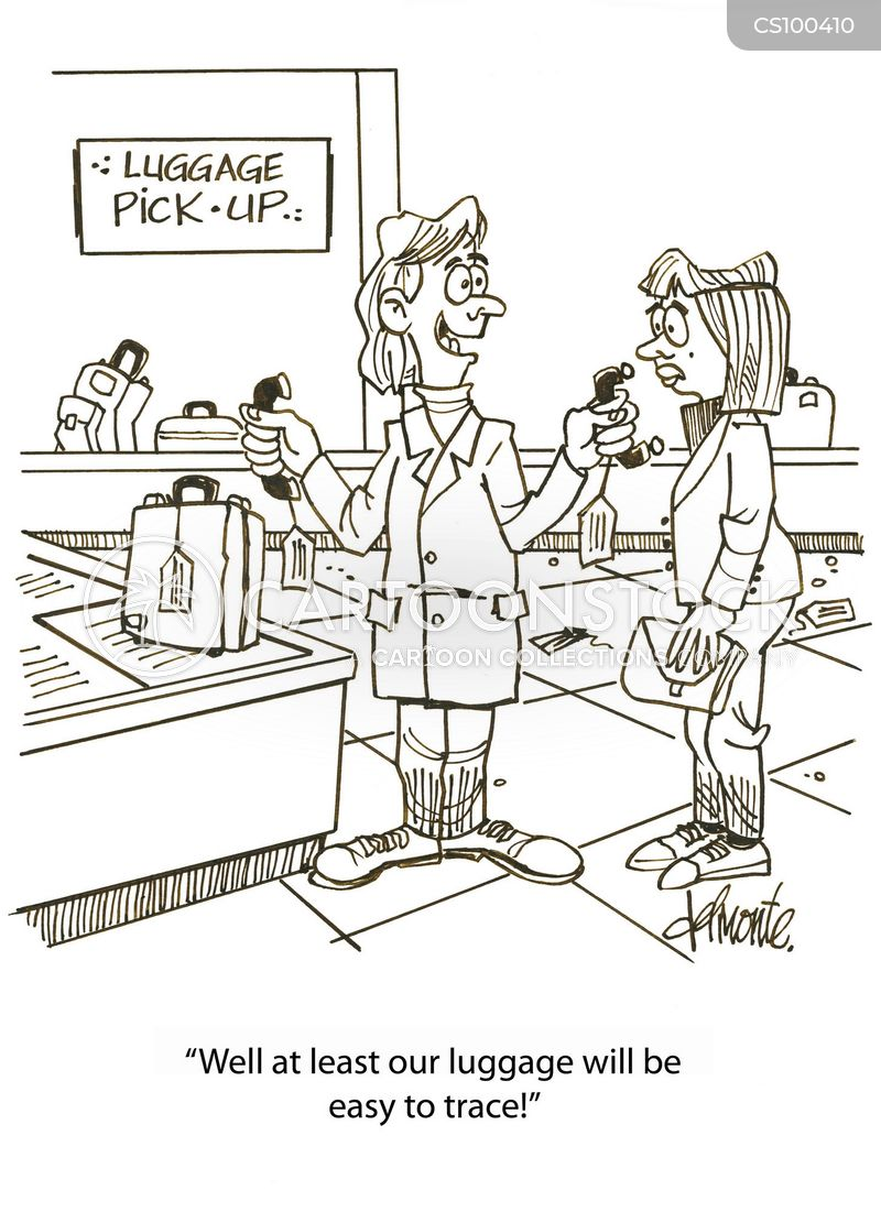 baggage reclaim cartoon