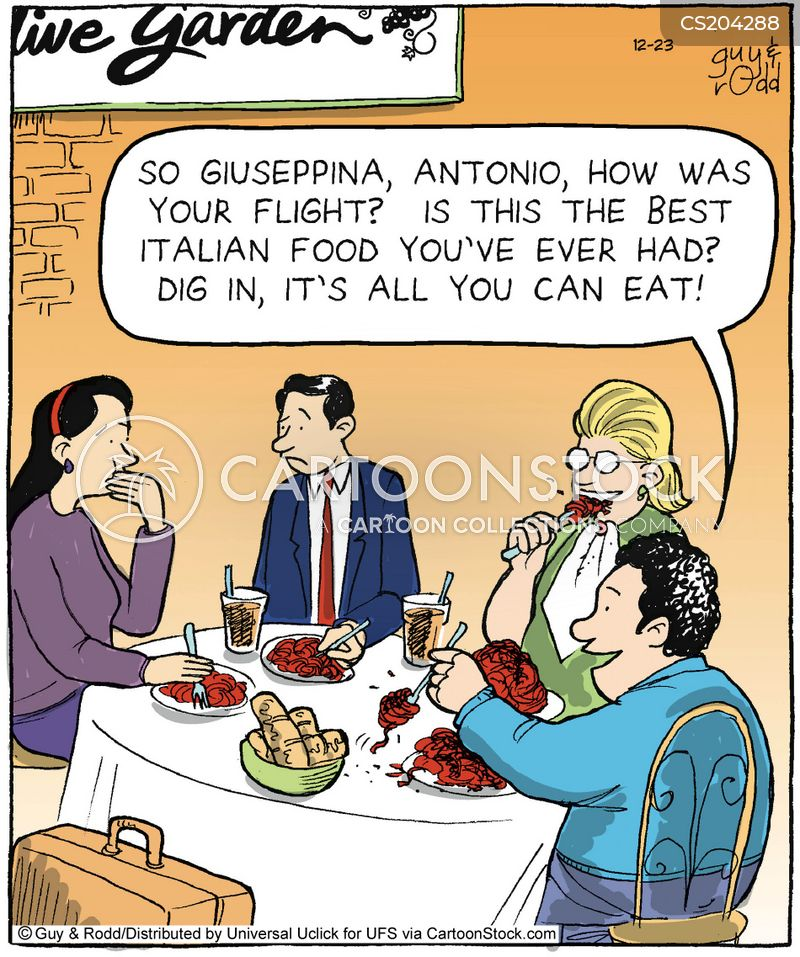 unauthentic italian food cartoon
