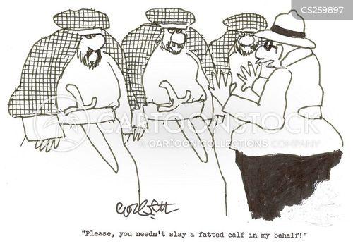 fatted calf cartoon