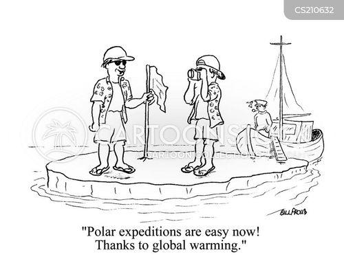 polar expedition cartoon