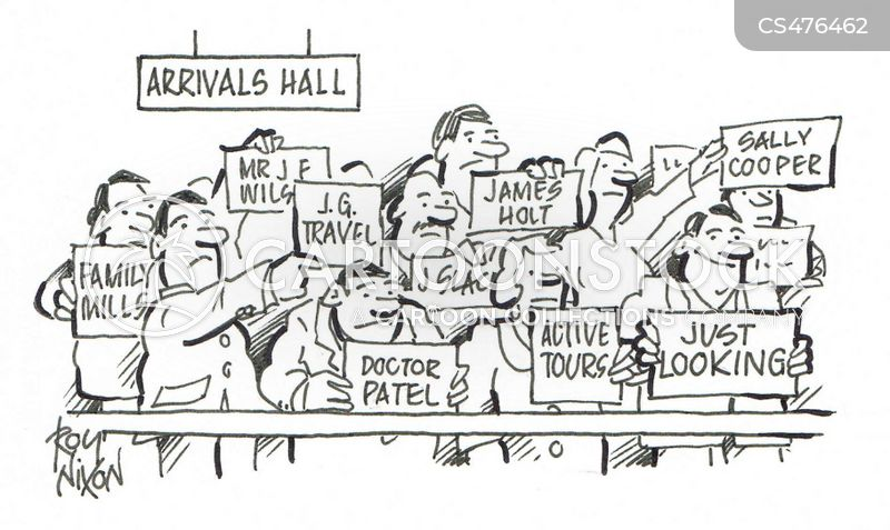 arrivals hall cartoon