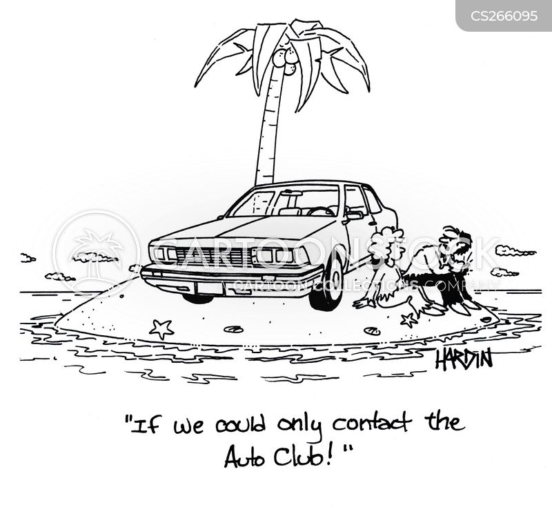 auto club cartoon