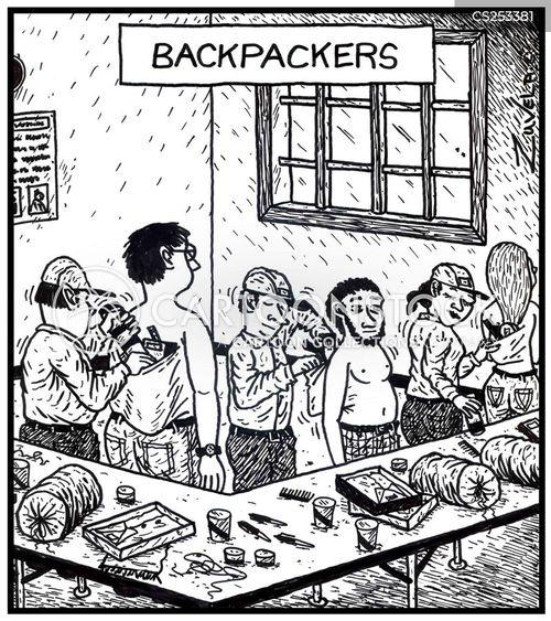 rucksacks cartoon