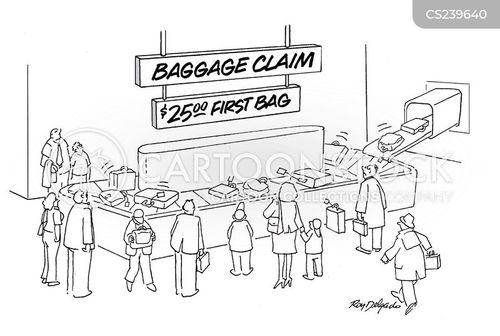 baggage claims cartoon