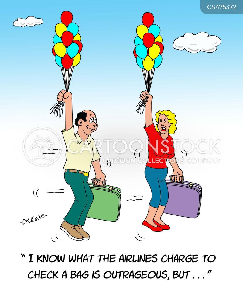 baggage charges cartoon