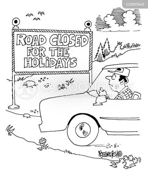 road closures cartoon