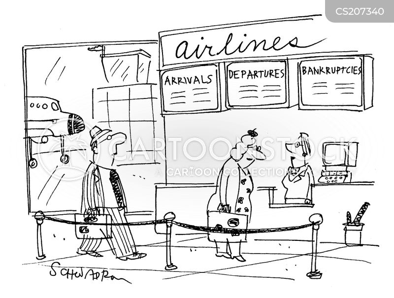 check-in cartoon