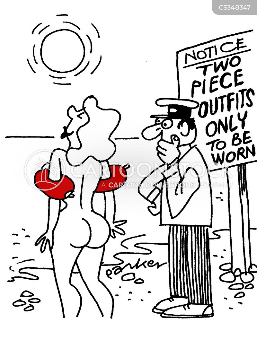 Nude comic humor beach are