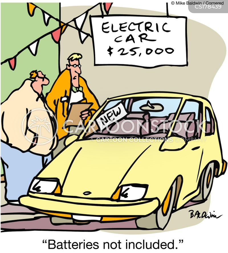 Image result for electric car battery cartoon