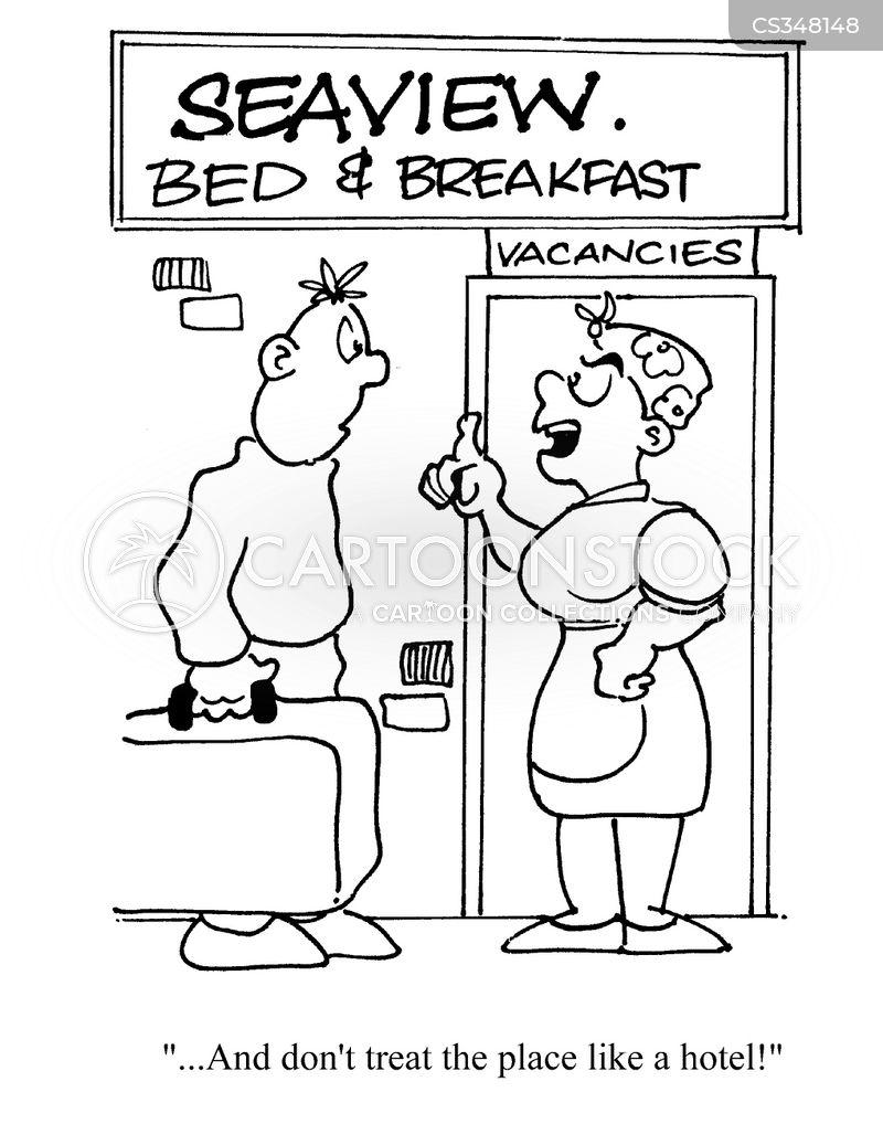 bed breakfast cartoon