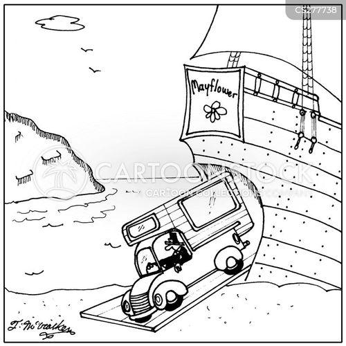 the mayflower cartoon