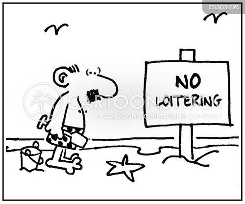loiterer cartoon