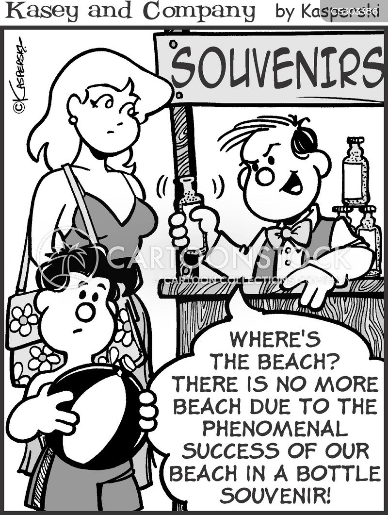 sandy beach cartoon